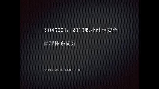 ISO45001:2018职业健康安全管理体系 术语